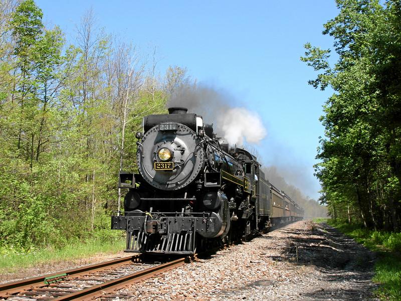 Steamtown excursion at Henryville - June 30, 2007