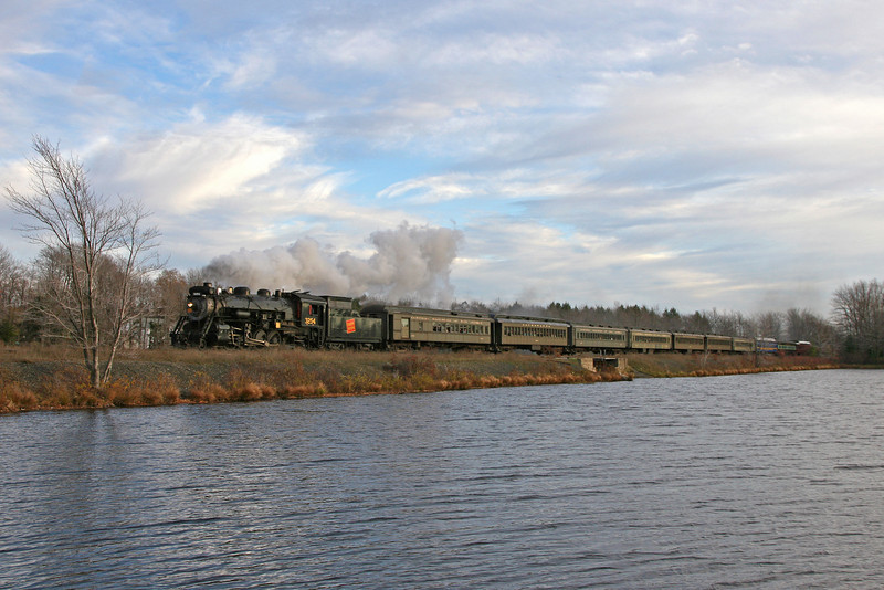 Steamtown excursion at Gouldsboro - November 3, 2007