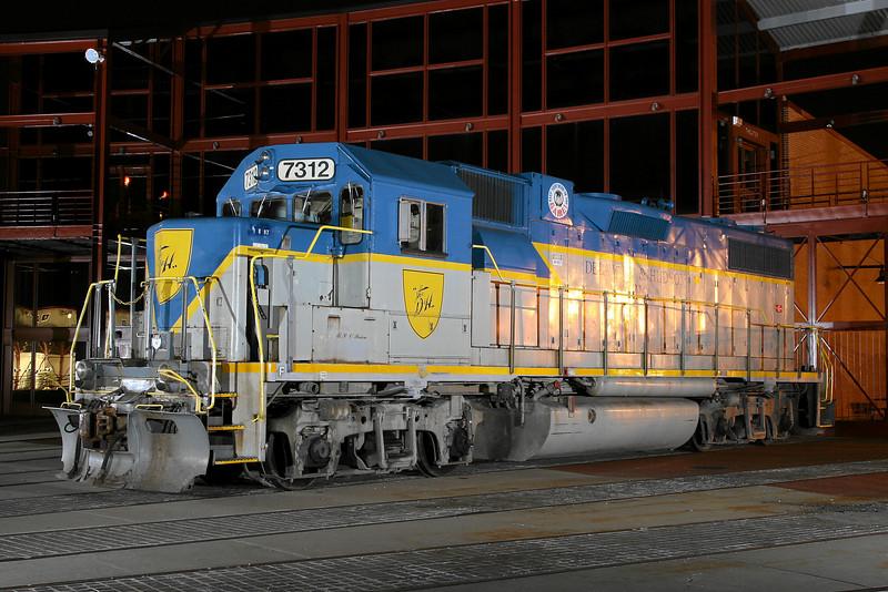 Delaware & Hudson (D&H) GP38-2 #7312 at Steamtown - November 3, 2007