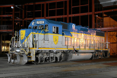 Delaware & Hudson (D&H) GP38-2 #7312 at Steamtown - November 3, 2007