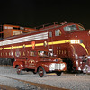 Pennsylvania Railroad E8 #5711 and 5809 at Steamtown- November 3, 2007