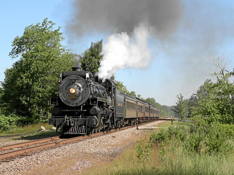 Steamtown excursion at Gouldsboro - June 30, 2007