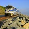 Amtrak's Pacific Surfliner at San Clemente Beach, California
