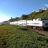 Metrolink at San Clemente Beach, California