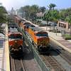 BNSF freight trains at Fullerton, California