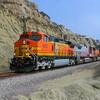 BNSF freight train at San Clemente Beach, California