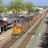 BNSF freight train at Fullerton, California