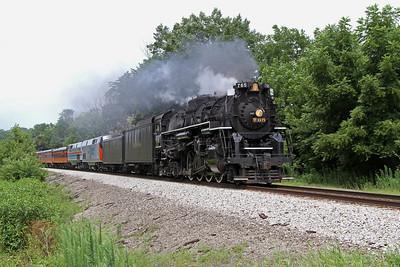 Nickel Plate 765 approaching Tiskilwa, Illinois