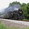 Nickel Plate 765 approaching Tiskilwa, Illinois