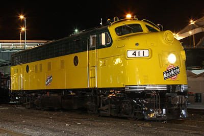 CNW F7A #411 at Rock Island, Illinois