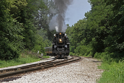 Nickel Plate 765 turned on the wye at Bureau Jct. for return to Rock Island