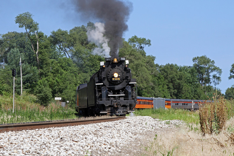 Nickel Plate 765 at Colona, Illinois