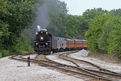 Nickel Plate 765 approaching Bureau Junction, Illinois