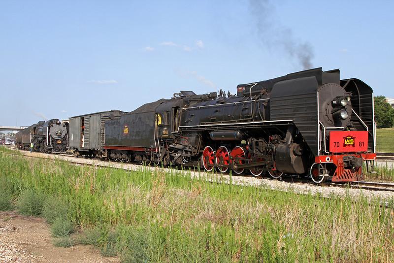 Iowa Interstate QJ 7081 & 6988 at Rock Island, Illinois