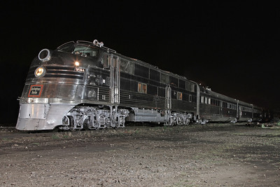 CB&Q's Nebraska Zephyr at Rock Island, Illinois