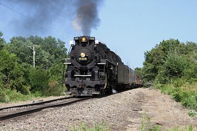 Nickel Plate 765 at East Moline, Illinois