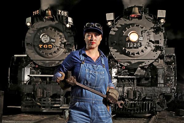 Steam Railroading Institute at Night (MI)