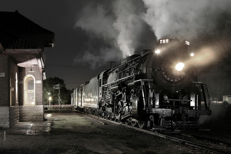 Nickel Plate 765 at Owosso Depot