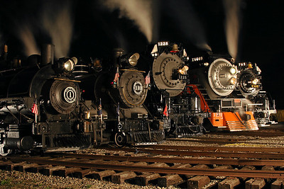 Little River 1, Little River 110, Pere Marquette 1225, SP Daylight 4449 & Nickel Plate 765