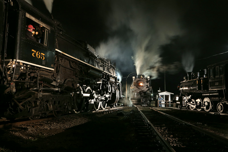 Nickel Plate 765, Pere Marquette 1225 & Little River 110