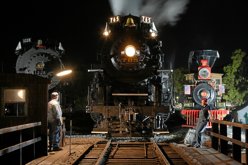 Pere Marquette 1225, Nickel Plate 765 & Leviathan 63