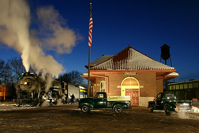Pere Marquette 1225 at Owosso Depot