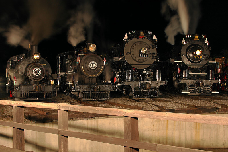 Little River 1, Little River 110, Pere Marquette 1225 & Nickel Plate 765