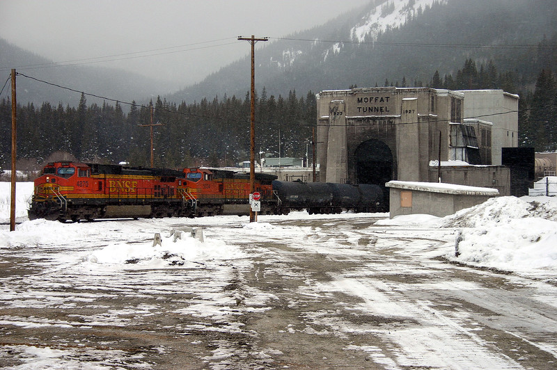 Entering the Moffat Tunnel