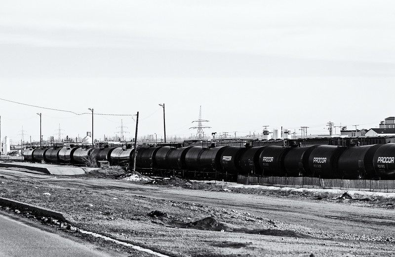Railyard in the prairies