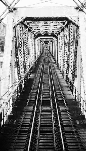 Fraser River railroad bridge