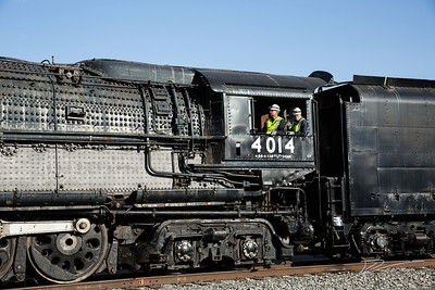 Union Pacific locomotive 4014 leaving Ogden, Utah