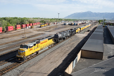 UP 4014 and Ogden Railyard