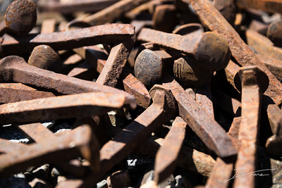 Pile of Railroad Spikes