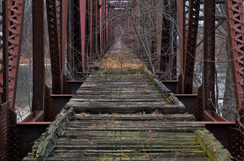 Lewisburg Bridge, Susquehanna River, PA, 2010<br /> © Edward D Sherline