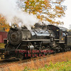 """Valley Railroad #40 runs light through Essex during one of their """"Hand on the Throttle"""" trips where visitors can take a try at running the locomotive."""