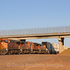 An Eastbound intermodal train is seen holding just West of Winslow Yard awaiting a signal to proceed East, 10-10-20.