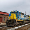 Pan Am Railways train EDPO at Lawrence, 3-24-18.