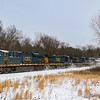 CSX Manifest train Q427 rips through Wilbraham, home of Friendy's Ice Cream.  A recent snowstorm blanketed the area the day before and the temperate at the time of the photo was four degrees with a windchill of negative fifteen, 1-21-19.