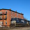 Pan AM Southern Train 287 passes Shirley, MA 3-4-17.