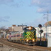 2020 has been a weird year to say the least. The only real upside has been the ability to get out and shoot more trains, especially unique trains. I never thought that I would see a New Hampshire Northcoast Geep pulling a commuter rail train, but here we are. Due to PTC implementation, this engine needed the upgrade in order to pull trains into the city to Boston Sand & Gravel. The engine was put on a commuter set and run on the Eastern route to test the new equipment. The train is seen passing through the industrial sections of Everett and Chelsea, 12-29-20.