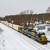 A CSX local pulls into Palmer on a very cold January day, 1-21-19.