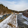 CSX Manifest train Q427 rumbles through West Warren passing the Mill Pond Dam. A recent snowstorm blanketed the area the day before and the temperate at the time of the photo was four degrees with a windchill of negative fifteen, 1-21-19.