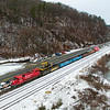 Canadian Pacific work train at Ticonderoga, 11-27-18.