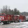Canadian Pacific Train 252 at Saratoga Springs, 11-27-18.