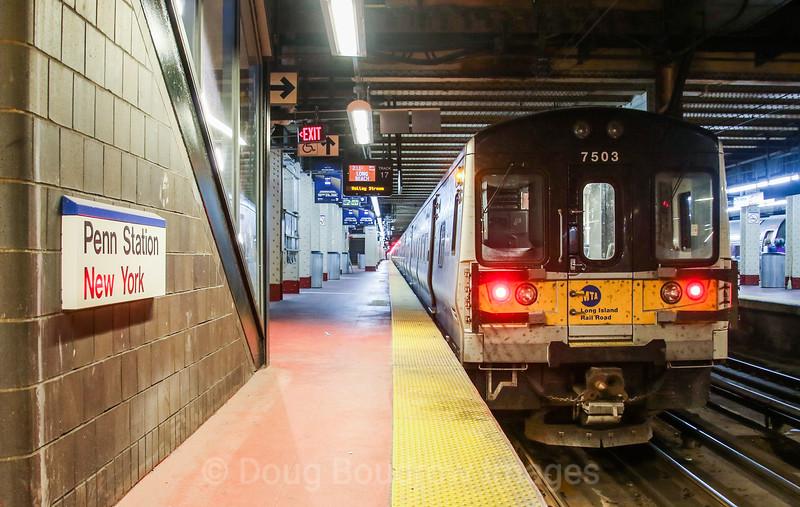 Long Island Railroad at New York Pennsylvania Station, 11-3-17.