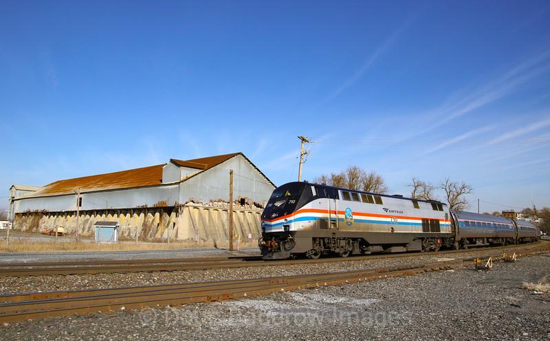 Amtrak Empire Service at Hudson, 11-26-19.