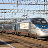 An Acela trainset arrives in New Haven from Boston, 8-29-10.