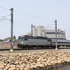 Amtrak Regional passes New London, CT, 6-9-11.
