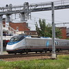 Amtrak Acela passes New London, CT, 6-9-11.