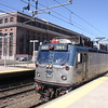 """Amtrak train #167 with locomotive #941, an AEM-7 """"Sweedish Meatball"""" arrives in New Haven from Boston, 8-29-10."""